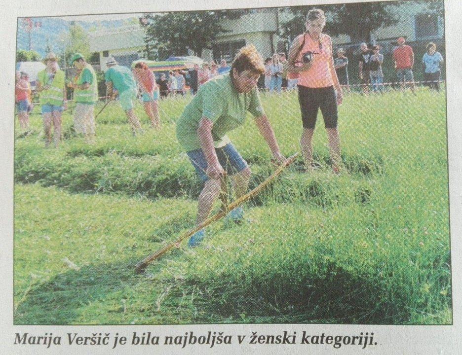 Državna prvakinja Marija Veršič. Fotografija: Kmečki glas.